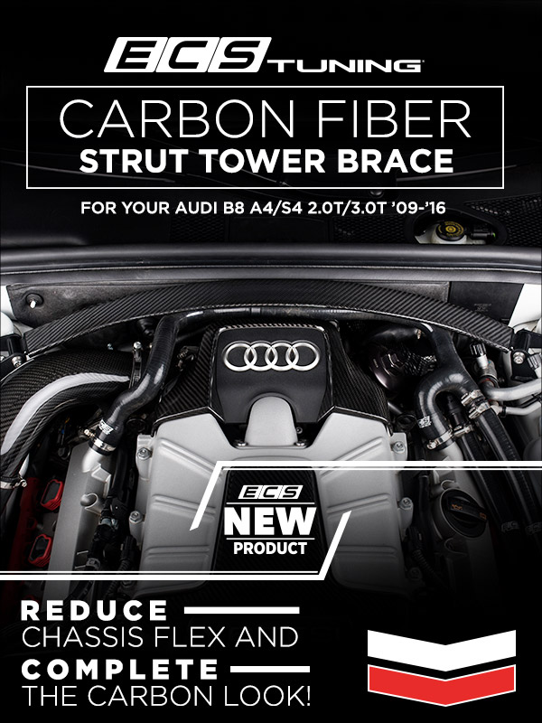 Ecs Tuning New Audi B8 Ecs Performance Carbon Fiber Strut Tower